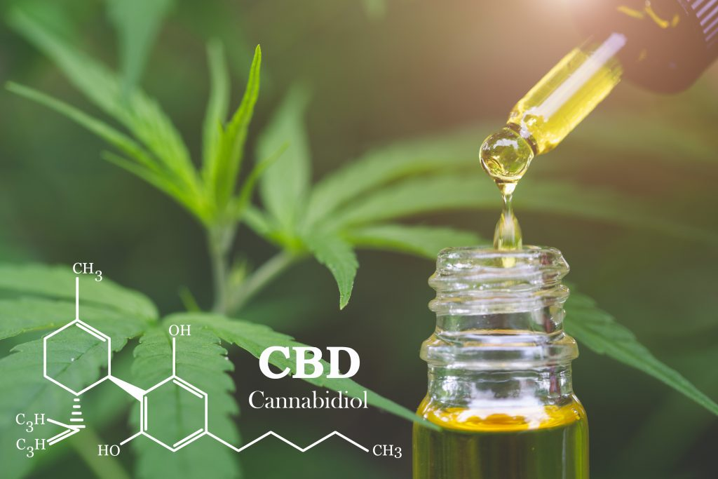 CBD VS CBG CBD elements in Cannabis, Hemp oil, medical marijuana, cannabinoids and health.